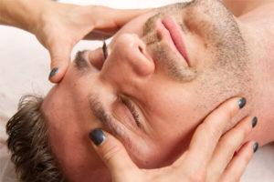 masaje craneo facial terapia relajante