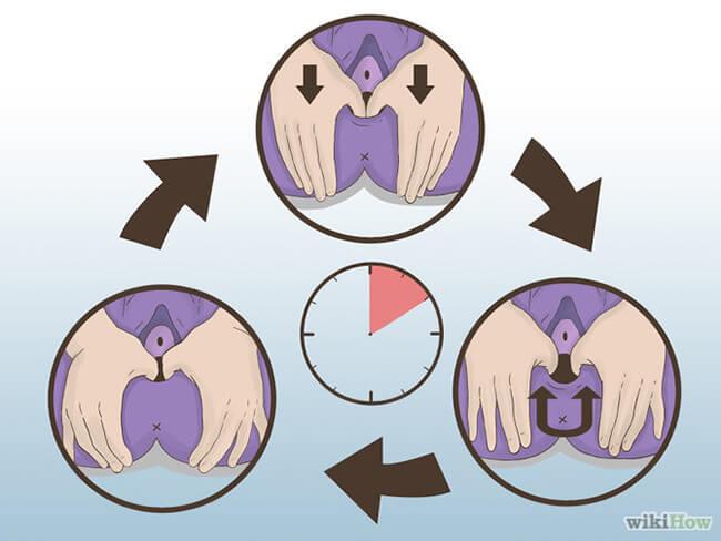 Preparación para el partomasaje perineal
